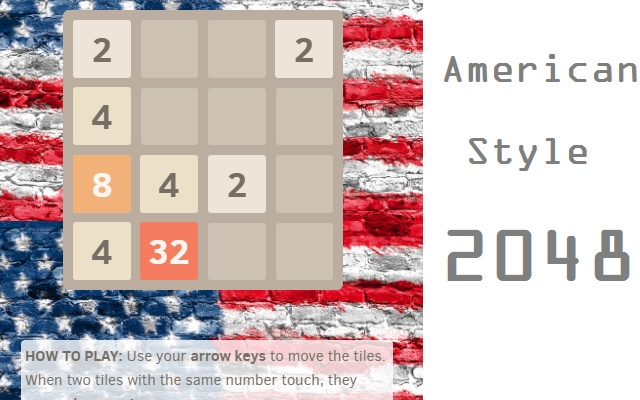 American 2048 Game